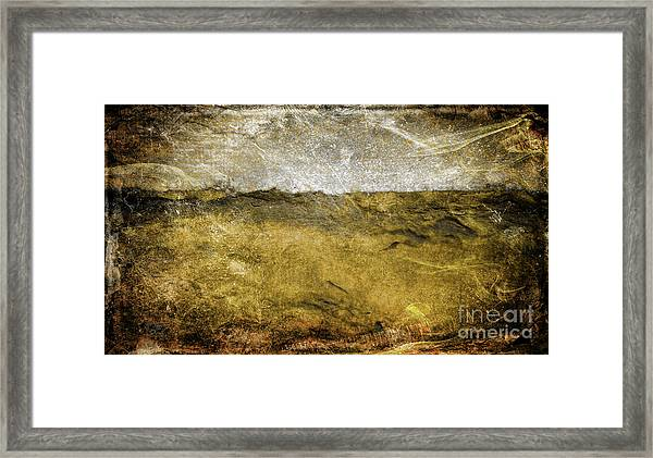 10b Abstract Expressionism Digital Painting Framed Print