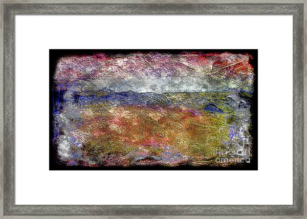 10c Abstract Expressionism Digital Painting Framed Print