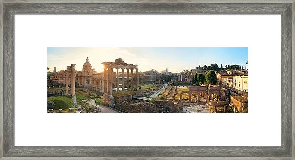 Rome Forum  Framed Print by Songquan Deng