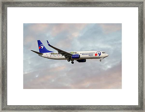 Travel Service Boeing 737-8cx Framed Print