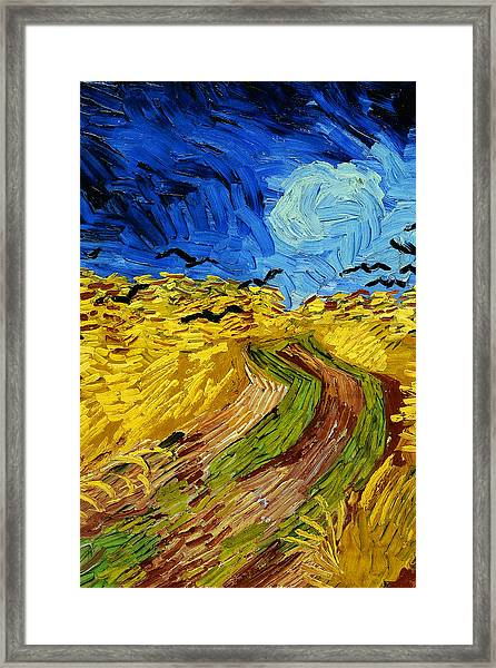 Wheatfield With Crows Framed Print
