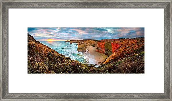 12 Apostle Sunset Framed Print
