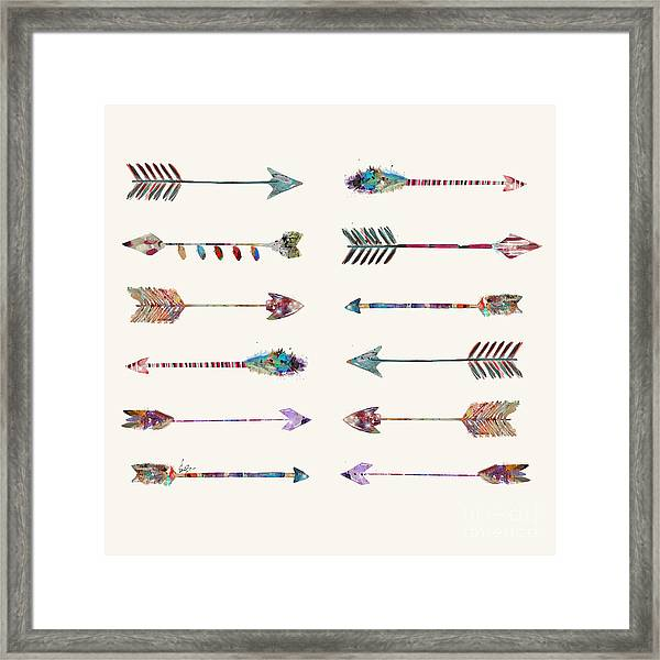12 Arrows Framed Print