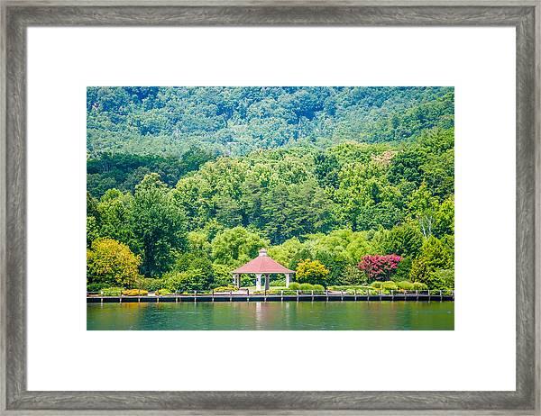 Scenery Around Lake Lure North Carolina Framed Print