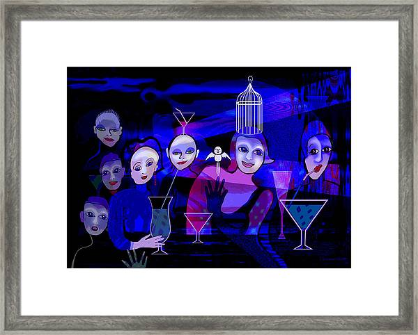 1242 - The Happy Hour Blues Framed Print