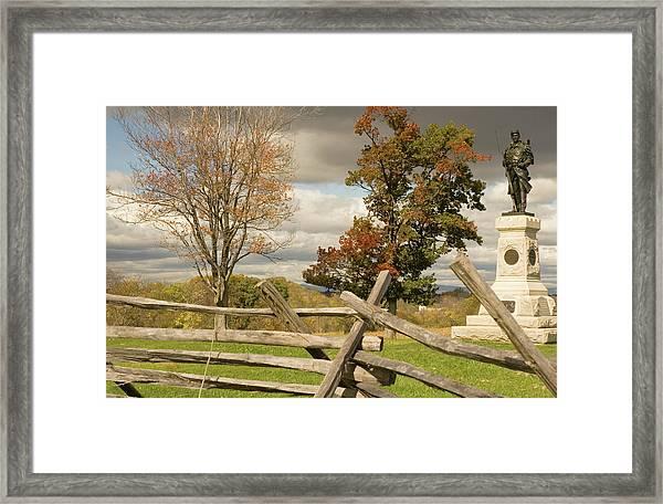 124th Pennsylvania Infantry Monument Framed Print