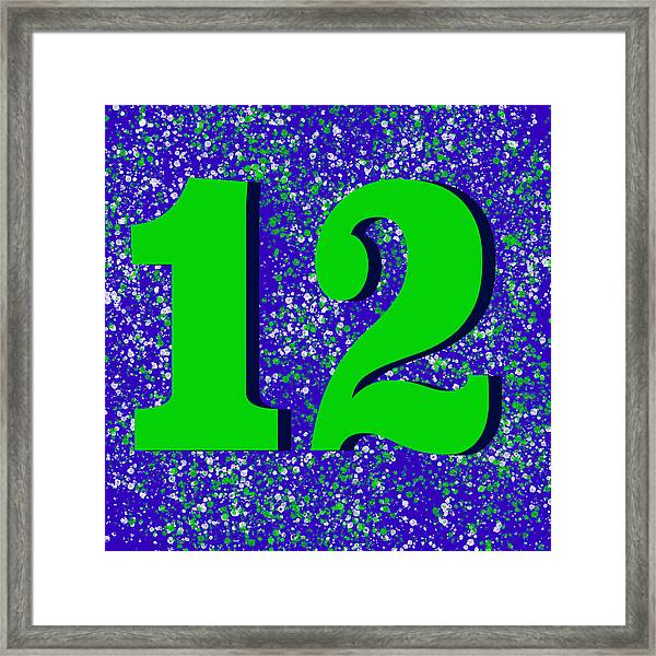 12th Man Framed Print