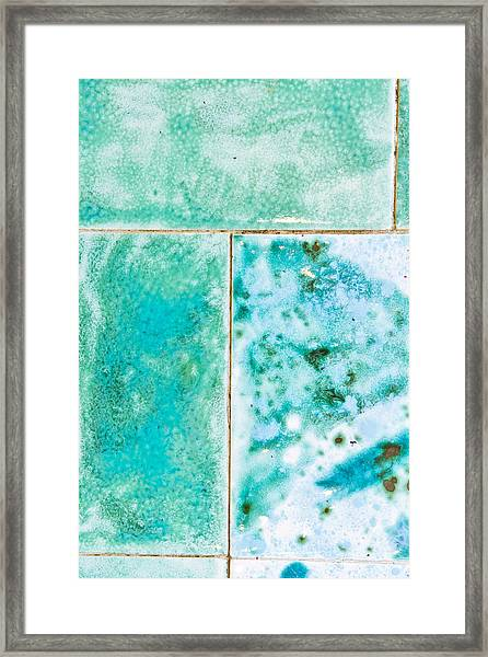Blue Tiles Framed Print