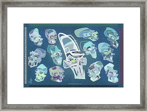 13 Crystal Skulls Framed Print