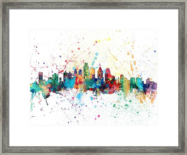 Philadelphia Pennsylvania Skyline Framed Print