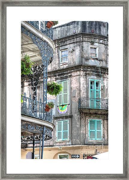 1358 French Quarter Balconies Framed Print