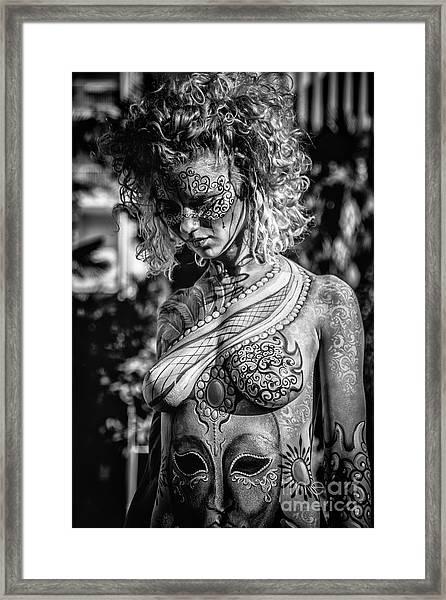 Bodypainting Framed Print