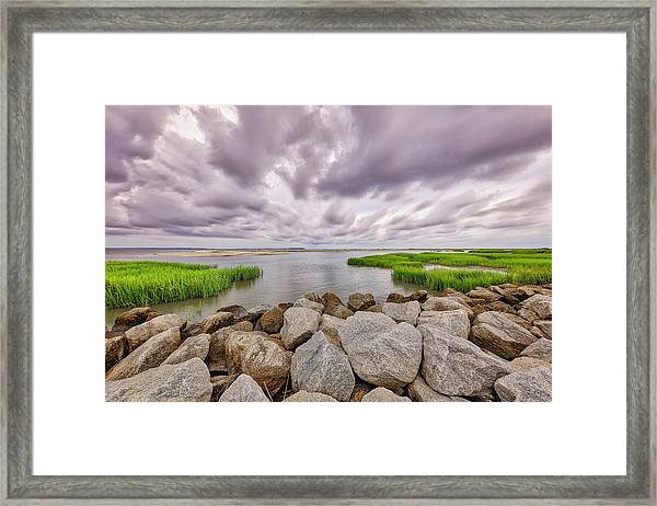 Seascape Of Hilton Head Island Framed Print