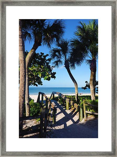14th Ave S Beach Access Ramp - Naples Fl Framed Print