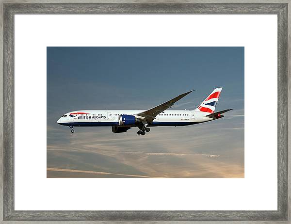 British Airways Boeing 787-9 Dreamliner Framed Print