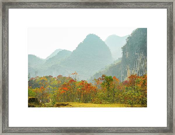 The Colorful Autumn Scenery Framed Print