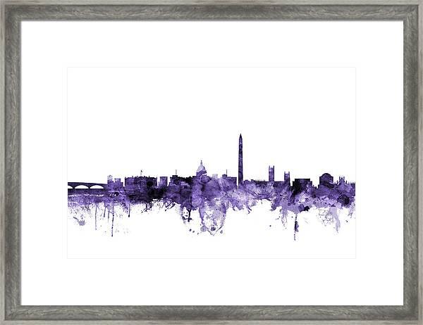 Washington Dc Skyline Framed Print