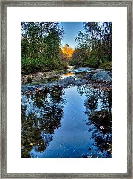 Stone Mountain North Carolina Scenery During Autumn Season Framed Print
