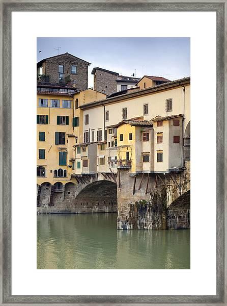 Ponte Vecchio Framed Print by Andre Goncalves