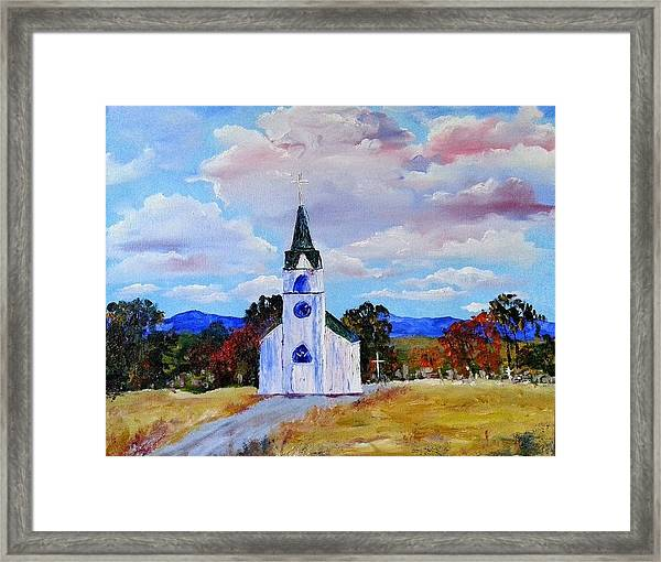 #17 St. Johns Historic Church On Hwy 69 Framed Print