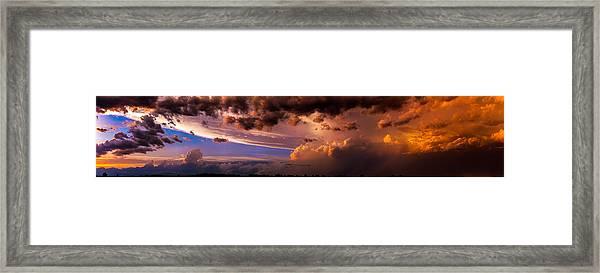 Nebraska Hp Supercell Sunset Framed Print