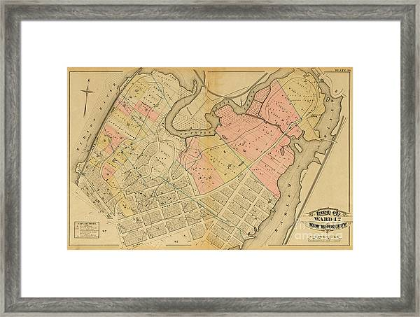 1879 Inwood Map  Framed Print