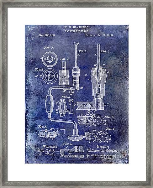 1883 Drill Patent Blue Framed Print