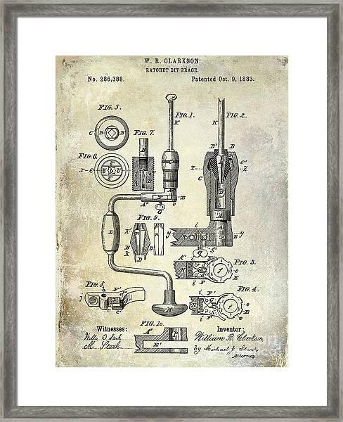 1883 Drill Patent Framed Print