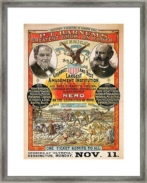 1890 - Circus Poster Framed Print