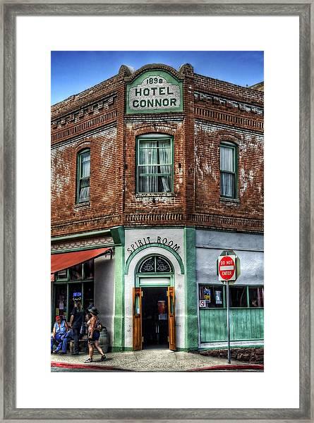 1898 Hotel Connor - Jerome Arizona Framed Print