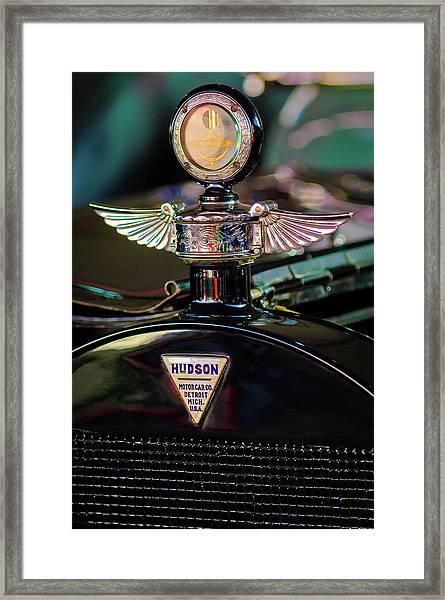1913 Hudson Model 37 Torpedo Tourer Hood Ornament -0753c Framed Print