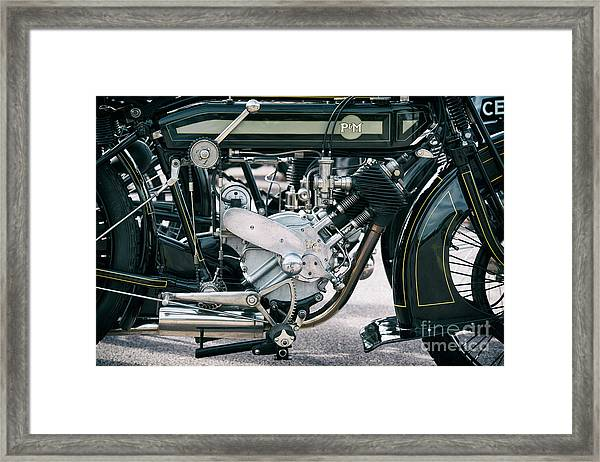 1921 P And M Motorcycle Framed Print by Tim Gainey