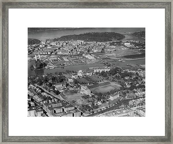 1930's Northern Manhattan Aerial  Framed Print