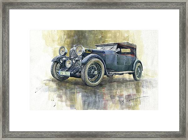 1932 Lagonda Low Chassis 2 Litre Supercharged Front Framed Print