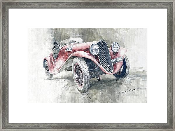 1934 Walter Standart S Jindrih Knapp 1000 Mil Ceskoslovenskych Winner  Framed Print