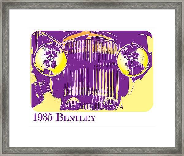 1935 Bentley Framed Print
