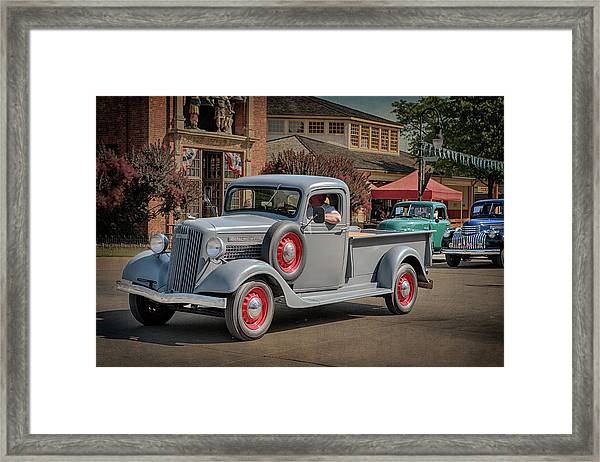 1936 Gmc T-14 Pickup  Framed Print