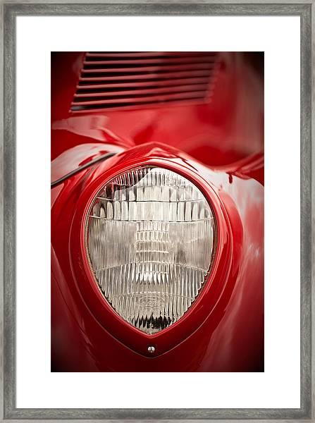 1937 Ford Headlight Detail Framed Print