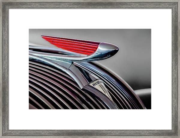 1937 Hudson Terraplane Hood Ornament -0686g Framed Print