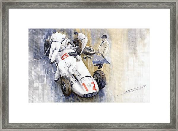 1939 German Gp Mb W154 Rudolf Caracciola Winner Framed Print