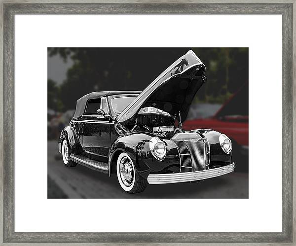 Framed Print featuring the photograph 1940 Ford Deluxe Automobile by Bob Slitzan