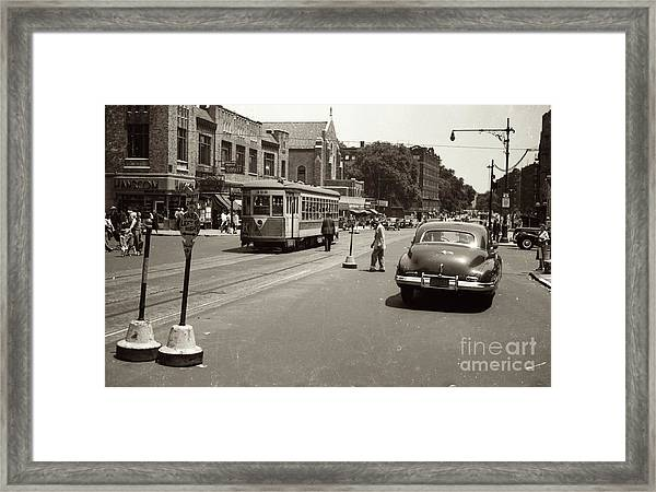 1940's Inwood Trolley Framed Print