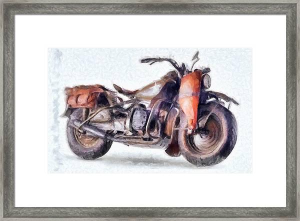 1942 Harley Davidson, Military, 750cc Framed Print