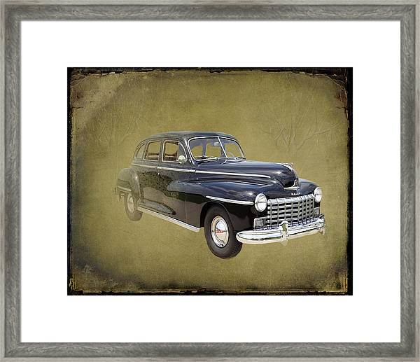 Framed Print featuring the photograph 1946 Dodge D24c Sedan by David Dehner
