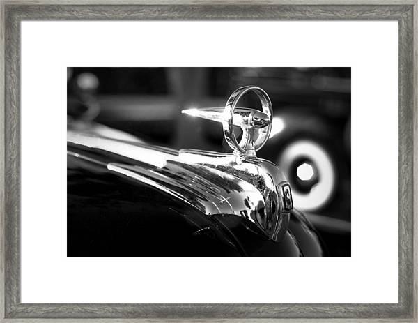 1946 Ford V8 Hood Ornament Framed Print