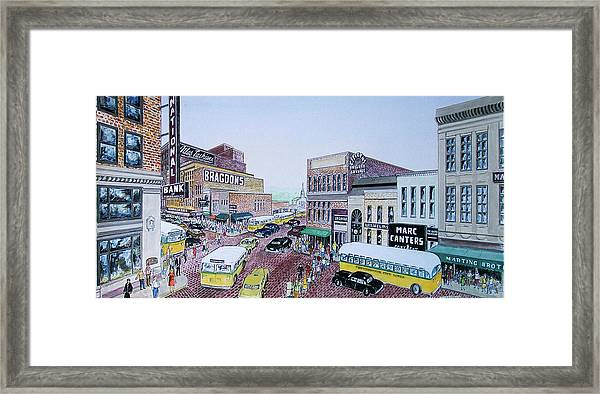 Rush Hour Portsmouth Ohio 1948 Framed Print