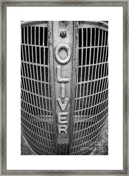 1949 Oliver Tractor Grill Framed Print