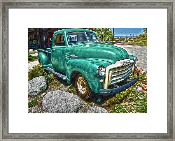 1950s Gmc Truck Framed Print