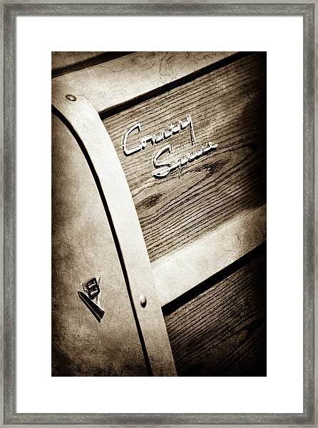1951 Ford Country Squire Woody Wagon Side Emblem -3369s Framed Print