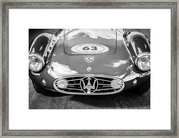1954 Maserati A6 Gcs -0255bw Framed Print